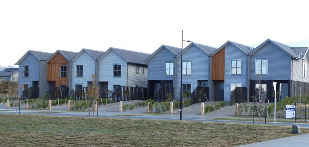 Northlake terrace houses await official inspection. PHOTO: MARK PRICE