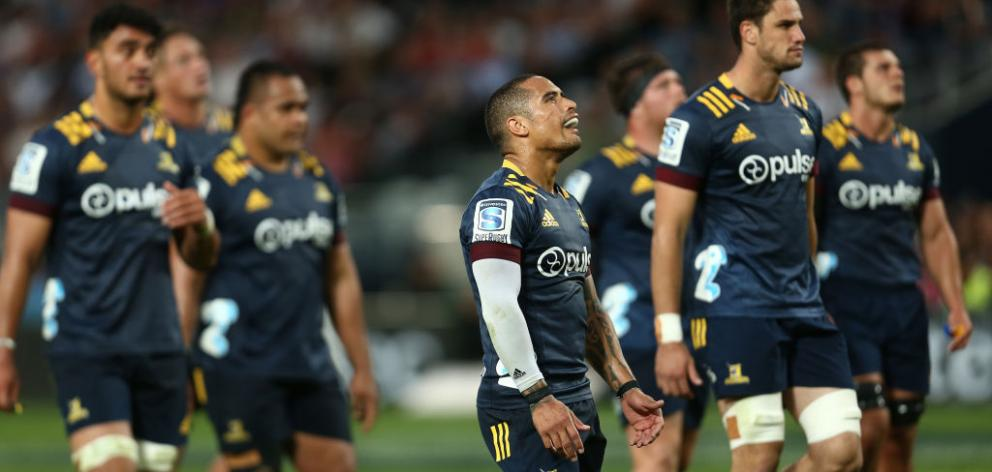 The Highlanders' first game after lockdown will be against the Chiefs in Dunedin in June. Photo:...