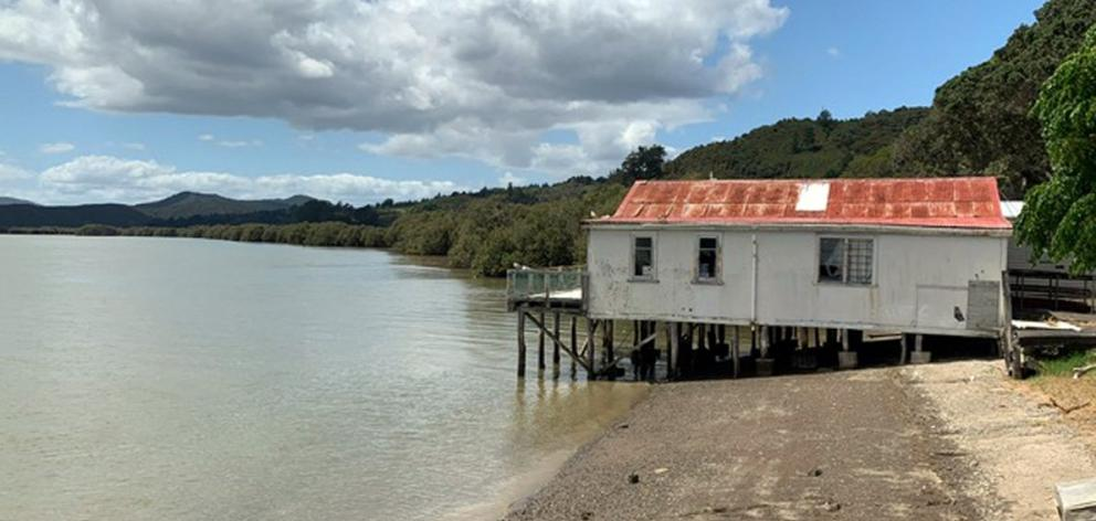 The original boat shed on the shores of Hokianga Harbour.