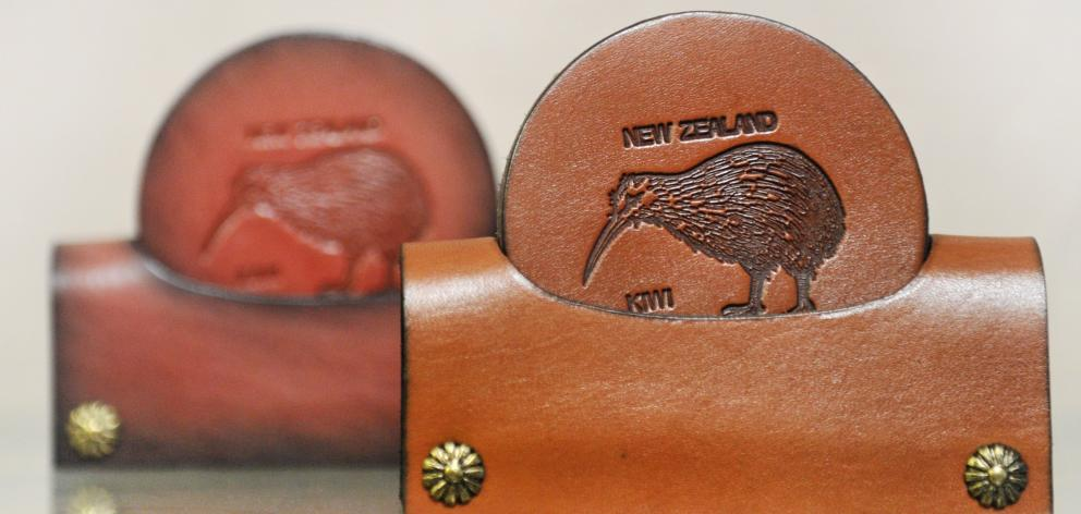 Classic kiwi coasters, as made by Drake Leather.