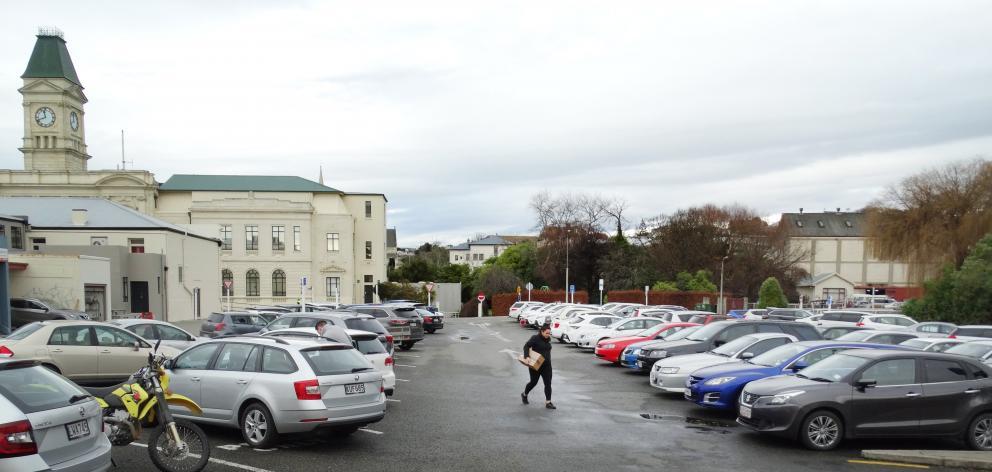 Oamaru's Meek St car park, where parking spaces have been at a premium. PHOTO: DANIEL BIRCHFIELD