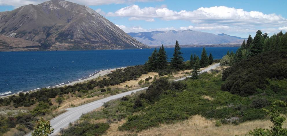 The view from Lake Ohau Lodge.