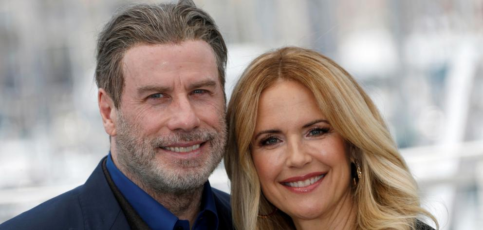 John Travolta and Kelly Preston. Photo: Reuters