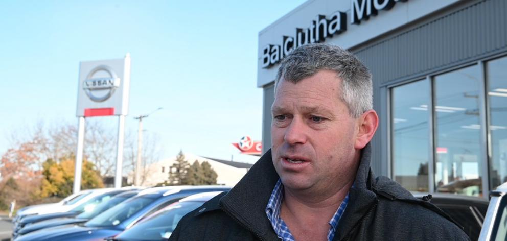 Balclutha Motors owner Jared McPhee.