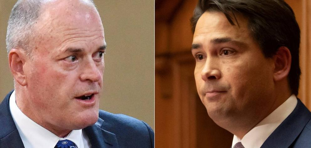 Todd Muller (left) and Simon Bridges. Photo: ODT files
