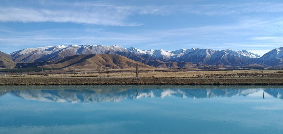 Hydro canals at Twizel and Ben Ohau Range. PHOTOS: MIKE YARDLEY
