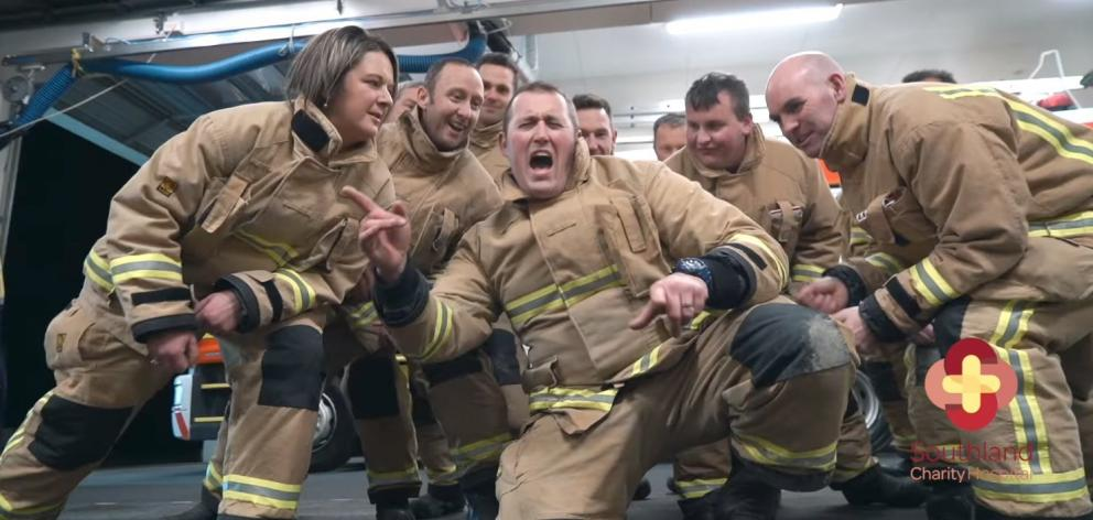 Winton's Volunteer Fire Brigade posted a dance video on social media on Monday to encourage other...
