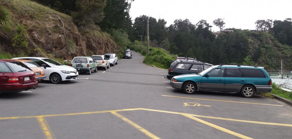 Unrestricted parks are usually filled at Diamond Harbour Wharf. Photo: Richard Suggate