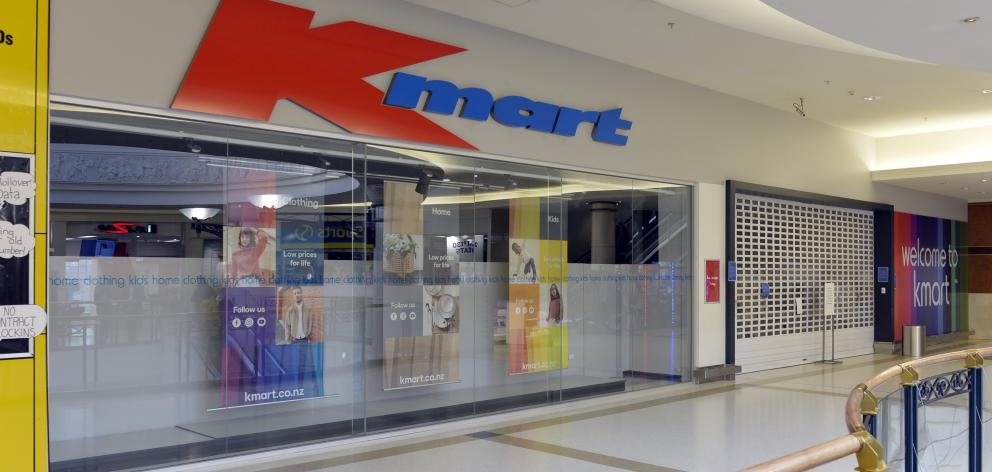 Kmart in the Meridian Mall remains closed. Photo: ODT