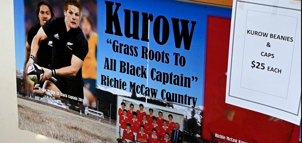 There is no escaping the fact in Kurow that it is the hometown of All Black great Richie McCaw.