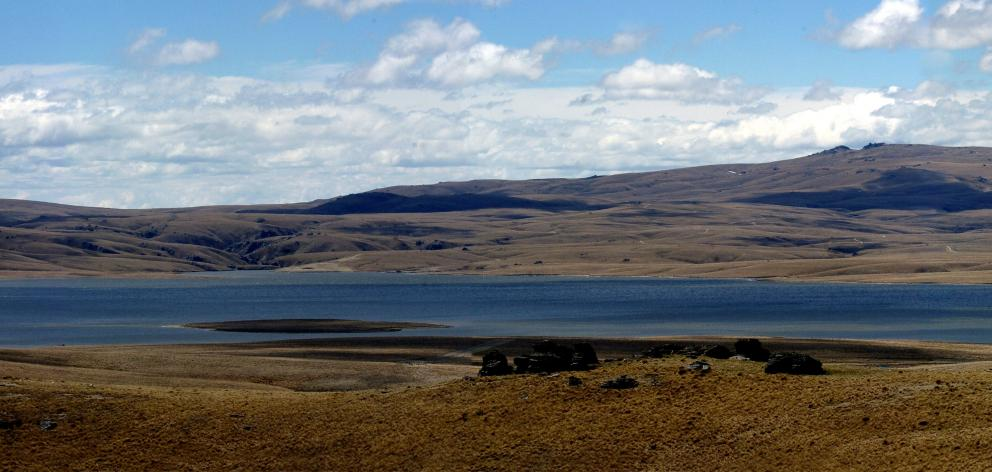 The Loganburn reservoir on the southern end of the Rock and Pillar Range. PHOTO: GERARD O'BRIEN