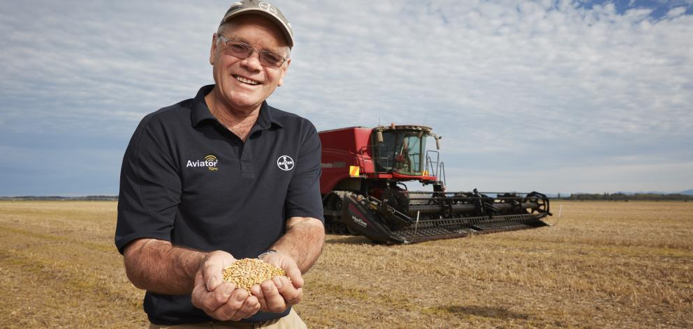 Eric Watson harvested the crop earlier this year. PHOTO: SUPPLIED