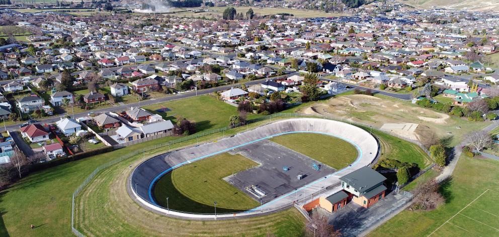 The Mosgiel velodrome from the air.PHOTO: ODT FILES