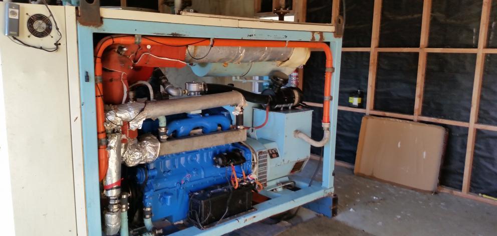 Using dairy shed effluent, this methane-run generator on Glenarlea Farm, Isla Bank, saves the...
