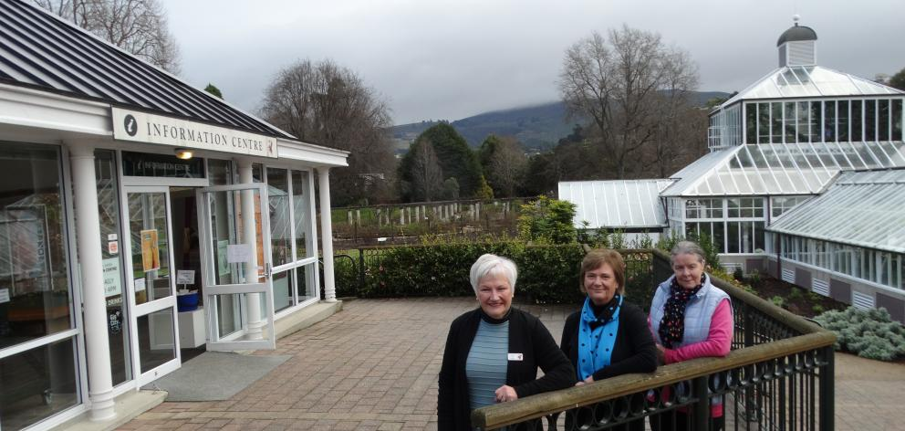Ready and willing to welcome visitors back to the Dunedin Botanic Garden information centre in...