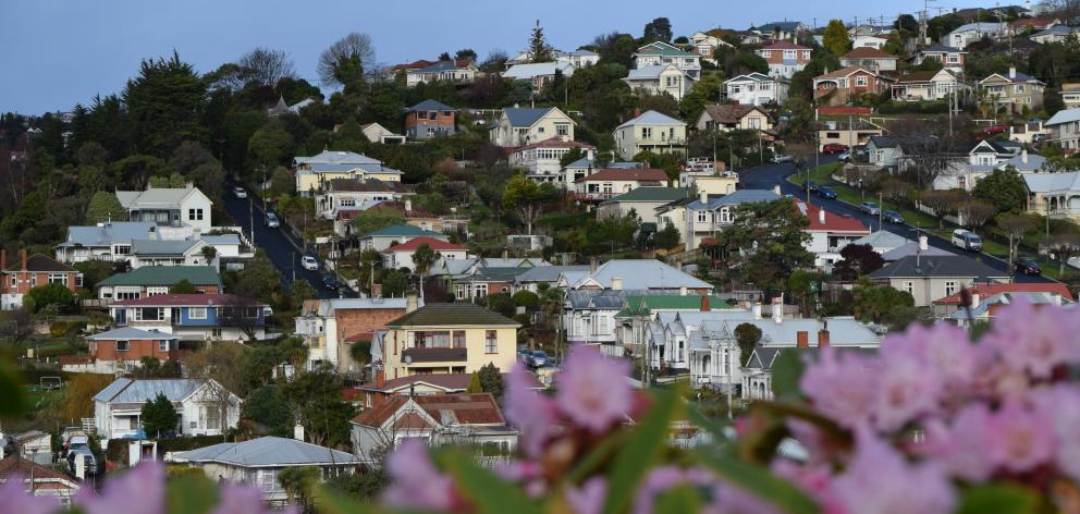 Residential house values in Dunedin have increased 18.9% in the past year. PHOTO: SHAWN MCAVINUE...