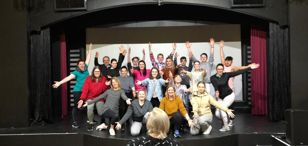 Musical Theatre Dunedin theatre restaurant director Helen Horsnell puts the cast through their...