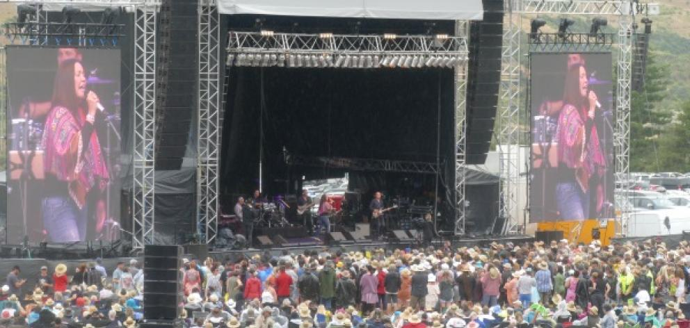 Toni Childs lets rip at last last year's Gibbston Valley Winery Summer Concert. Photo: Mountain...