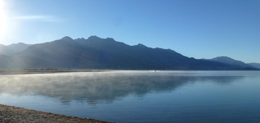 Early morning mist at Kinloch at the head of Lake Wakatipu. PHOTO: JUSTINE TYERMAN