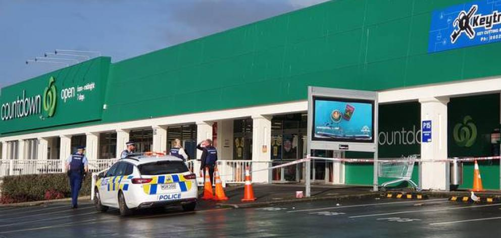 Police cordoned off the area this morning. Photo: Visual Media Productions via NZ Herald