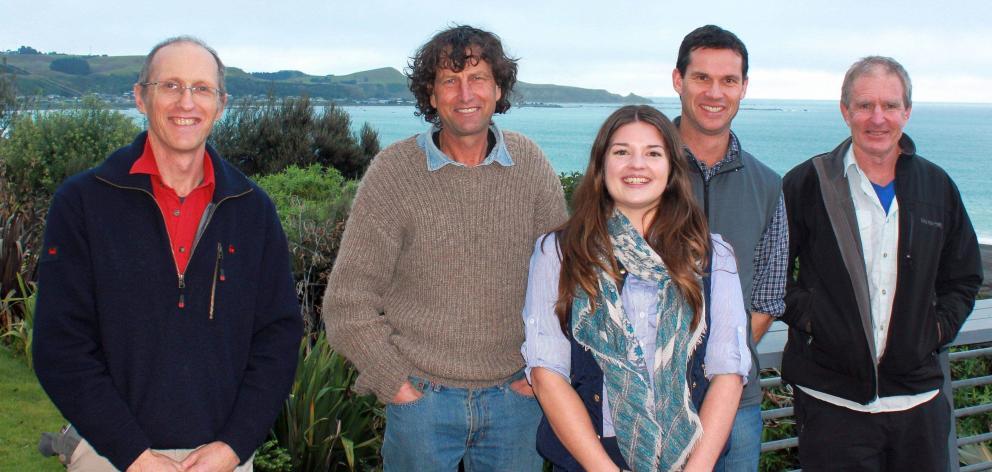 Enjoying the Kaikoura scenery are (from left) Canterbury farm facilitator and coach John King,...