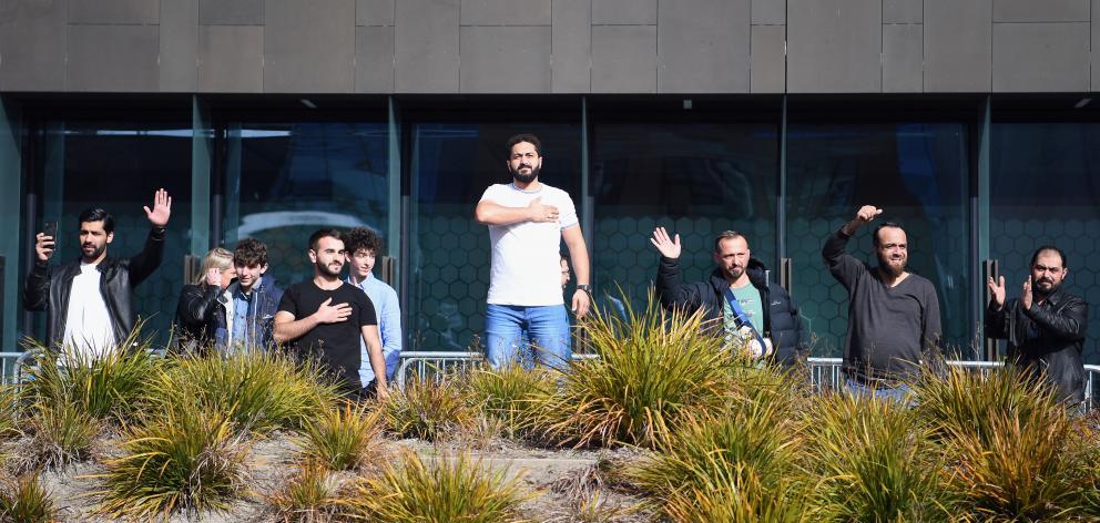Al Noor Mosque shooting survivors (from left) Mustafa Boztas, Wasseim Alsati and Temel Atacocugu...