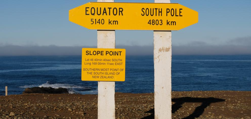 Due to the South Island's angular nature, Slope Point — not Bluff — is the island's southernmost...