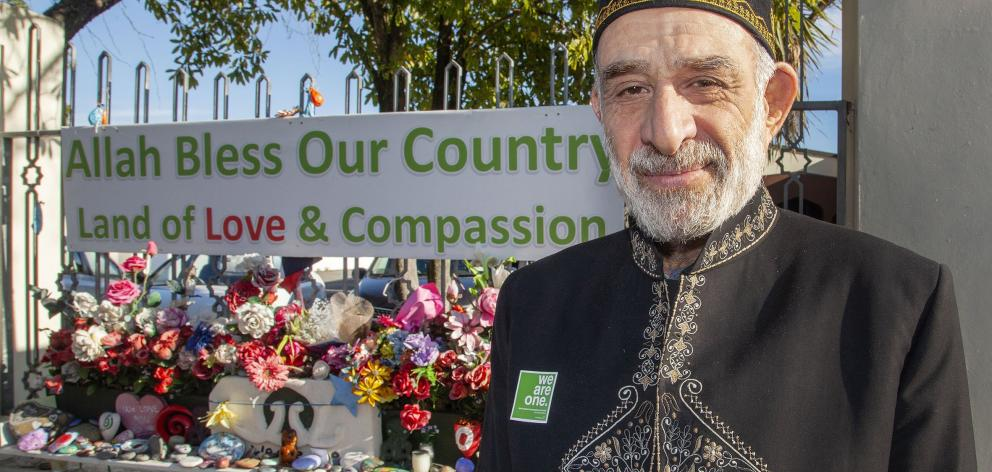Dr Mohammad Alayan outside the Al Noor Mosque in Christchurch. PHOTOS: THE STAR (CHRISTCHURCH)...