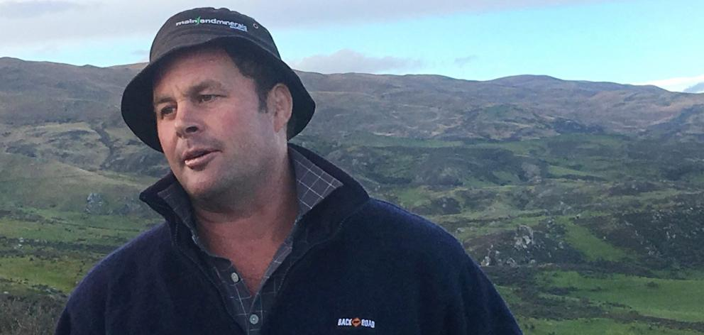 Andrew Paterson, from Matakanui Station, discusses irrigation development on the property near...