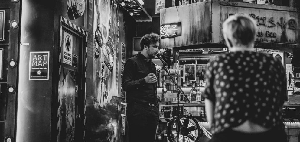 Jordan Hamel performs his poetry. PHOTO: SUPPLIED