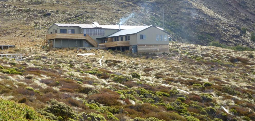 Luxmore Hut - a welcome sight as the weather began to deteriorate.