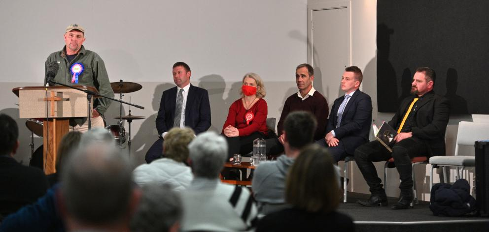 At last night's meet-the-candidates event for the Taieri electorate (formerly Dunedin South)at...