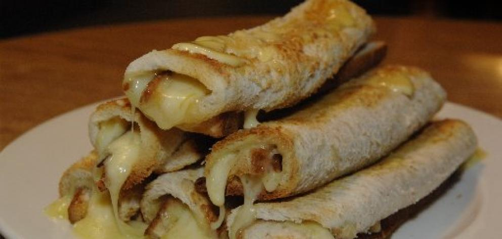 Cheese rolls, the classic taste of the South, are made using thin white bread. Photo: ODT files.