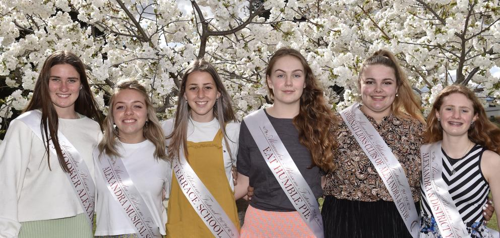 Looking forward to a great blossom festival In Alexandra are the festival princesses (from left)...