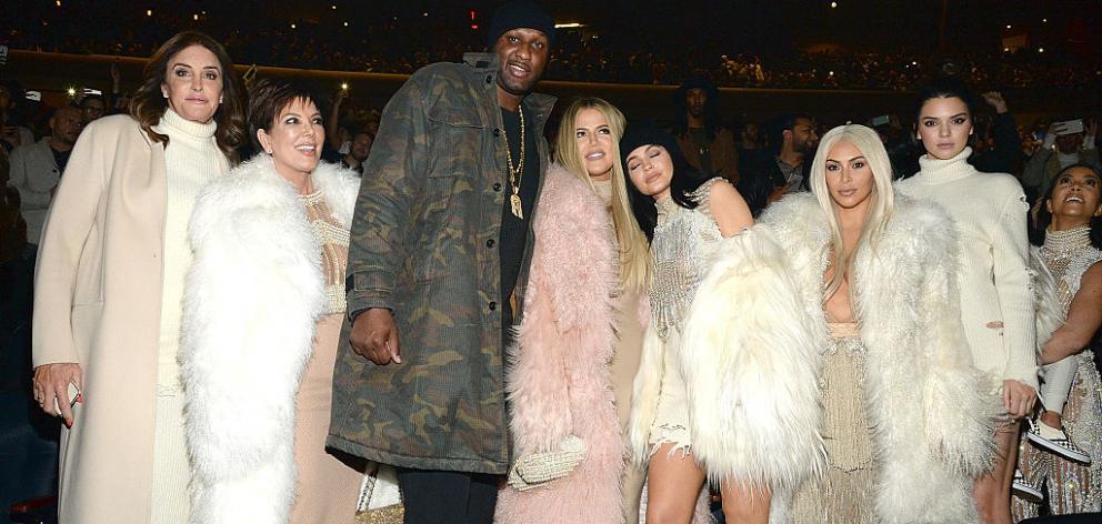 Caitlyn Jenner, Kris Jenner, Lamar Odom, Khloe Jenner, Kylie Jenner, Kim Kardashian West, Kendall Jenner, and Kourtney Kardashian. Photo: Getty Images
