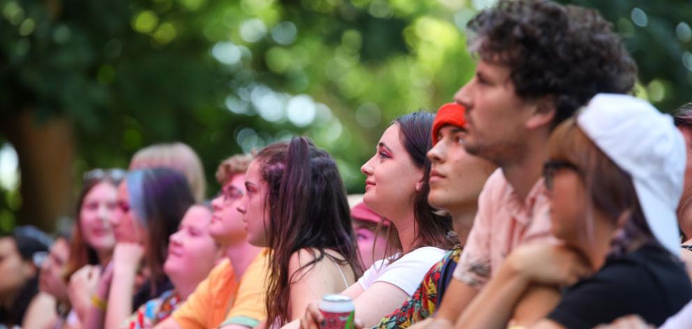 Fans watch Soaked Oats perform at St Jerome's Laneway Festival in January this year. Photo: Getty Images