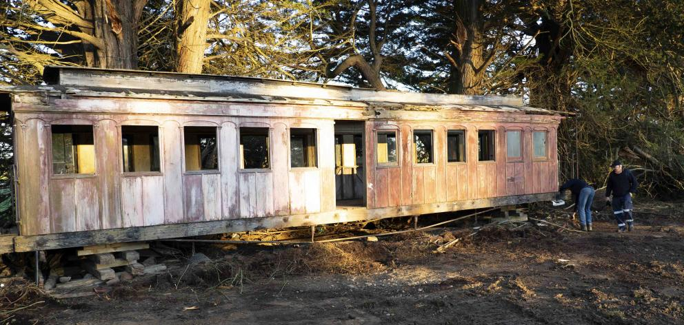 No-one was sure how the 137-year-old carriage made it to the farm, where it had been sitting...