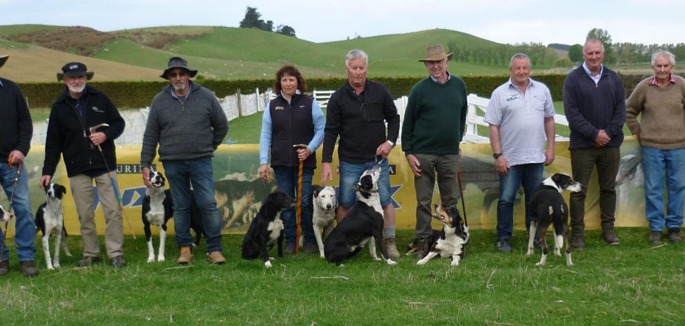 Handy dog finalists taking advantage of the conditions are (from left) Mark Mallinson and Naki,...