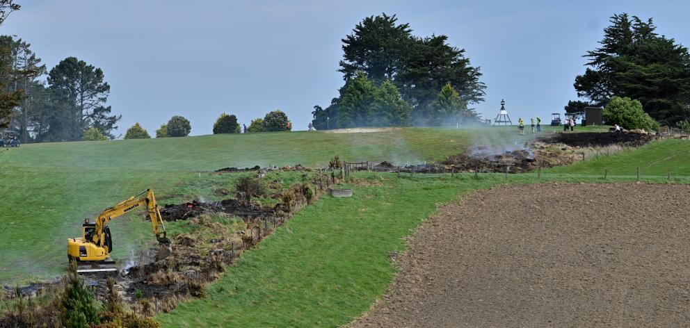 The fire was under control quickly. Photo: Gerard O'Brien