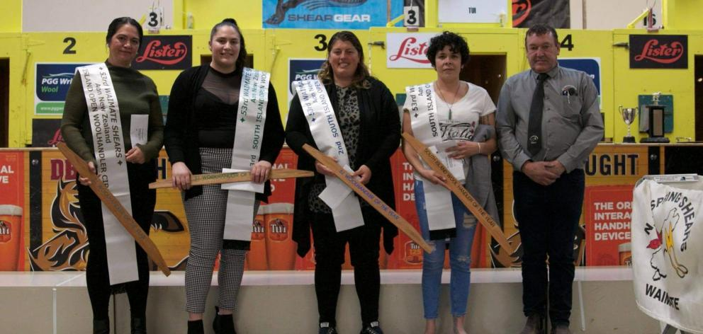 Winners and placegetters in the recent Open Woolhandling South Island circuit-South Island...