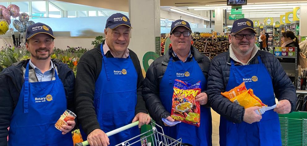 Rotary Dunedin South members (from left) Ricky Cockerill, Gary Williams, Moray McKenzie and John...