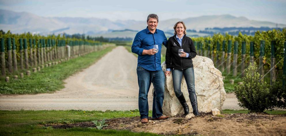 Royce and Sue Mckean own Tiki Wines and Vineyards