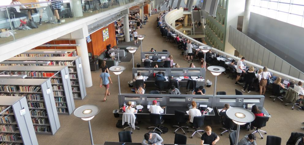 University of Otago students are filling the library as second semester exams get underway. PHOTO: JESSICA WILSON