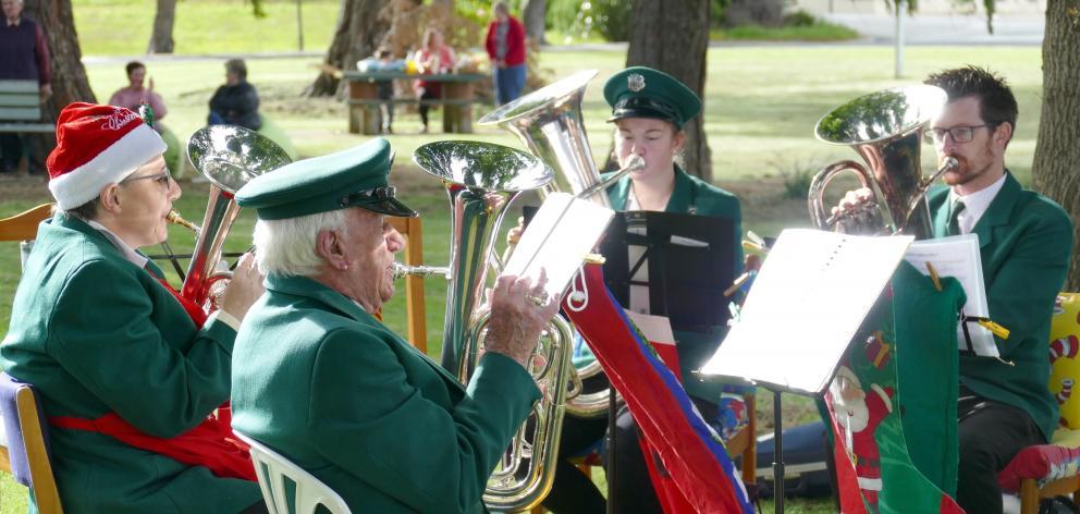 Balclutha Brass members (from left) Jillian Breach, Bill ...