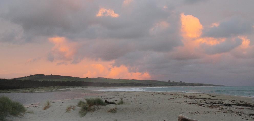 The beach at Toko Mouth at sunset. PHOTOS: JEFF KAVANAGH