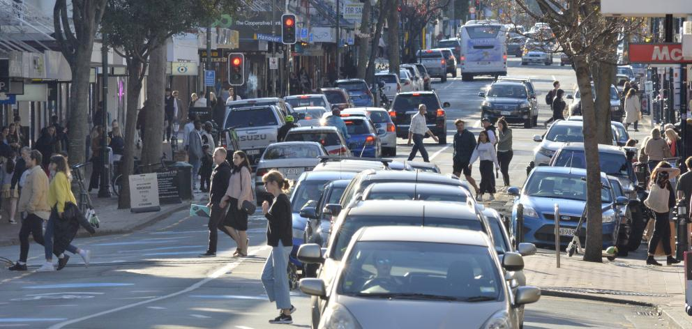 Infrastructure underneath Dunedin's George St needs replacing. PHOTO: ODT FILES