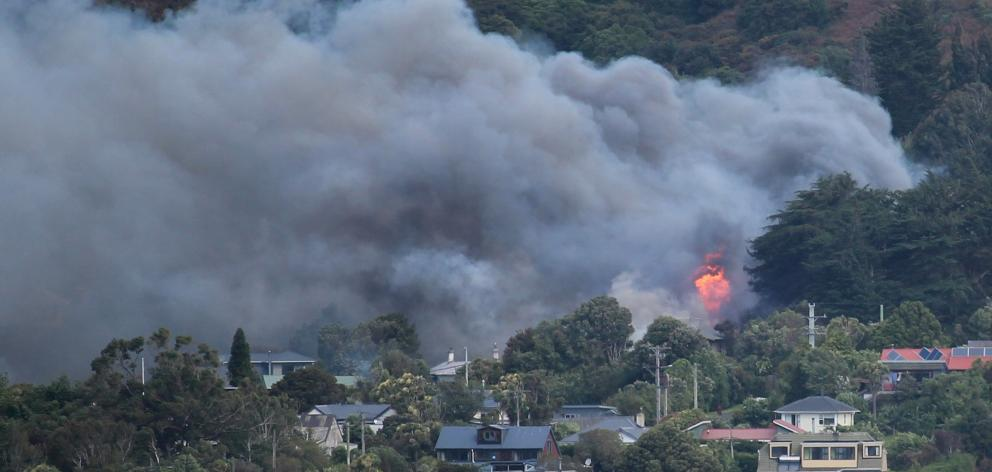 Smoke and flames from the house fire in Beaconsfield Rd, in Portobello, on Saturday were seen...