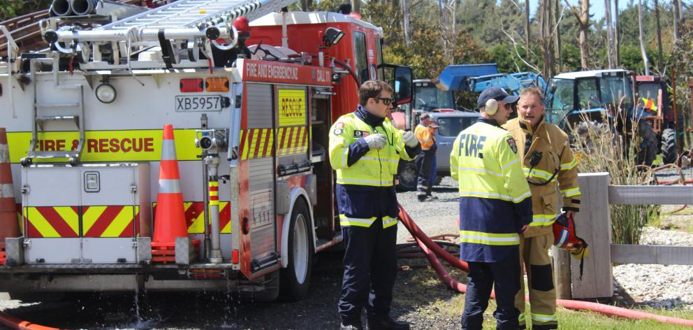 Fire and Emergency New Zealand crews were called to an Invercargill vehicle repair yard in...