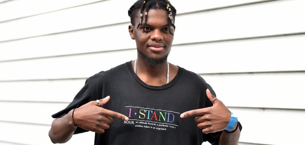 Black Lives Matter campaigner TJ Zimba. PHOTO: PETER MCINTOSH