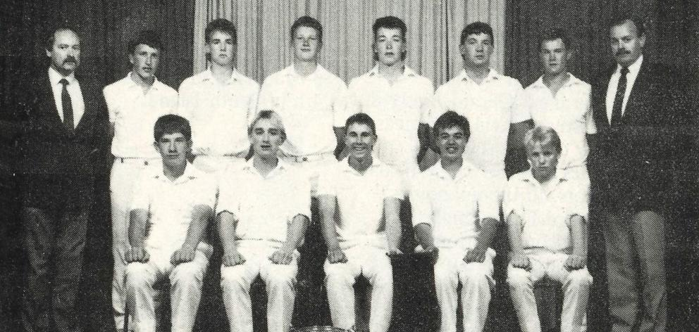 Steve Garland (back row, right) coached a Shirley Boys' High School 1st XI featuring future Black...